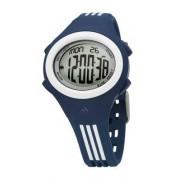 Adidas Kids - ADM4002 - Montre Enfant - Quartz Digitale - Multifonctions - Bracelet Plastique Bleu Bandes Blanches