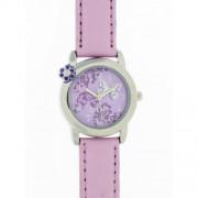 DDP - 4018701 - Montre Fille - Quartz Analogique - Bracelet en Cuir Violet