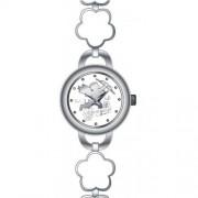 DDP - 4018402 - Montre Fille - Quartz Analogique - Bracelet en Métal Blanc