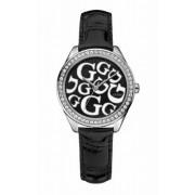 Guess - W65008L2 - Montre Femme - Quartz - Analogique - Bracelet Cuir Noir