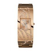 Guess - W16558L1 - Montre Femme - Cadran cuivré - Bracelet Acier cuivre et motif Guess