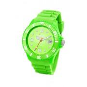 Ice Watch - SI.GN.U.S.09 - Montre Mixte - Quartz Analogique - Cadran Vert - Bracelet Silicone Vert - Moyen Modèle