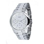 Guess - W12086L1 - Mini Spectrum - Montre Femme - Quartz Analogique - Cadran Argent - Bracelet Acier Argent