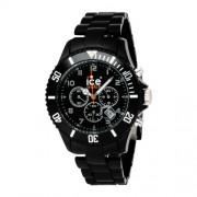 Ice Watch - CH.BK.B.P.09 - Ice Chrono - Montre Homme - Quartz Analogique - Cadran Noir - Bracelet Plastique Noir - Grand Modèl