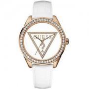 Guess - W75030L1 - Montre Femme - Quartz - Analogique - Bracelet Cuir Blanc