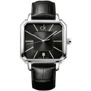 Calvin Klein - K1U21107 - Montre Homme - Quartz - Analogique - Bracelet cuir noir