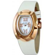 Cerruti - CT101402D04 - Montre Femme - Quartz - Analogique - Bracelet Cuir Blanc
