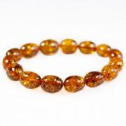 Bracelet d'ambre adulte couleur miel