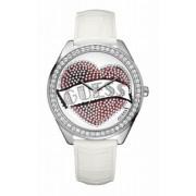 Guess - W70018L1 - Montre Femme - Quartz - Analogique - Bracelet Cuir Blanc